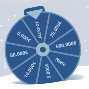 Weihnachtsfeier-Glücksrad: Abgesicherte Last-Minute-Promotions für Ihr Weihnachtsgeschäft 2021!